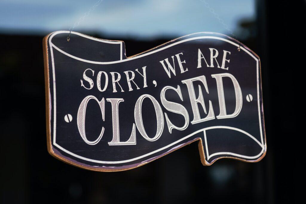 We zijn gesloten